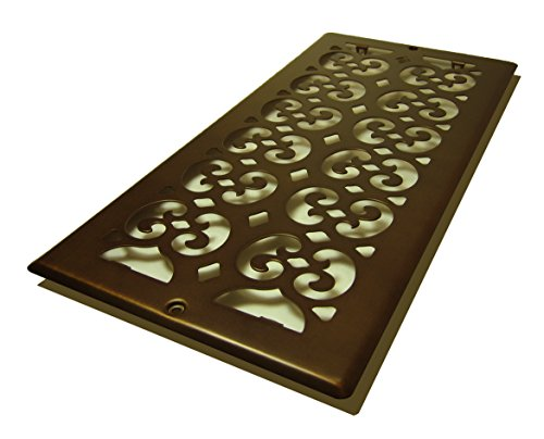 Decor Grates SP614R-RB Scroll Plated Return, 6-Inch by 14-Inch, Rubbed Bronze