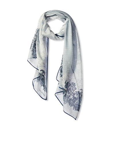 Valentino Women's Floral Silk Scarf, Black/White