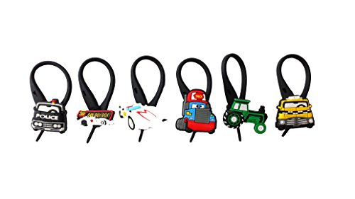 6 pcs Pixar Cars # 2 Soft Zipper Pull Charms for Backpack Bag Pendant Jacket