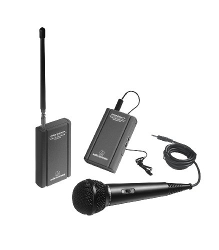 Audio Technica ATR288W VHF Battery-Powered TwinMic Microphone System