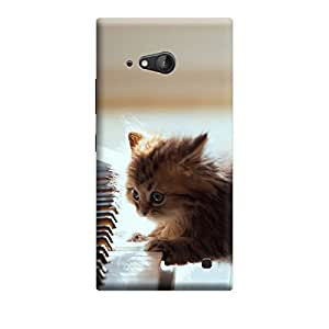 Ebby Premium Printed Mobile Back Case Cover With Full protection For Nokia Lumia 730 (Designer Case)