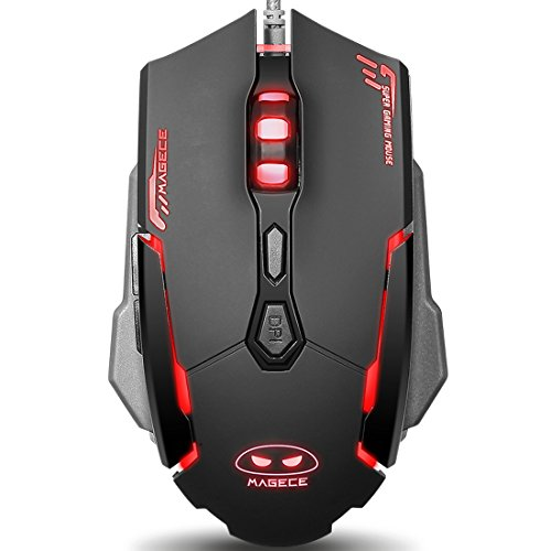 Magece G2 Gaming Mouse 6 Buttons 3200 DPI Professional LED Optical USB Wired Gaming Mice for PC Mac