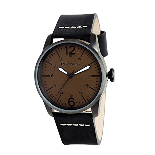 tokyobay-t621-no-mens-stainless-steel-black-leather-band-noir-dial-smart-watch