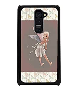 PrintDhaba Angel D-3682 Back Case Cover for LG G2 (Multi-Coloured)