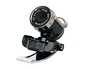 1.3Mega Pixels HD Webcam with Microphone (Black)