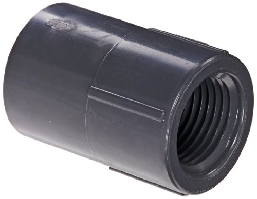 """Spears 835 Series PVC Pipe Fitting, Adapter, Schedule 80, 1/2"""" Socket x NPT Female"""