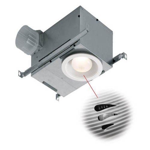 Broan-Nutone 744SFLNT Recessed Bathroom Humidity Sensing Fan / Light - ENERGY STAR