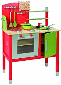 janod j05623 maxi cuisine rouge et verte jeux et jouets. Black Bedroom Furniture Sets. Home Design Ideas