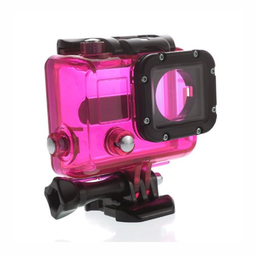 Carry360 Skeleton Protective Housing For Gopro Hero 3(Without Lens/Without Cable) Open Side For Fpv(Color Pink)