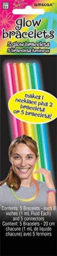 "Amscan Groovy Neon Doodle Glow Sticks (5 Piece), Multi, 8"" - 1"