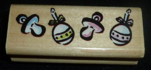 Baby Pacifiers Rubber Stamp