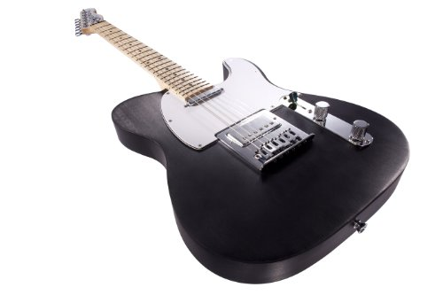 Normandy Alumicaster Electric Guitar, Anodized Obsidian With Maple Fretboard