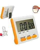 KING DO WAY LCD Minuteur Aimanté pince Chronomètre Cuisine mécanique alarme électronique jaune