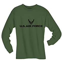 Air Force Long Sleeve T-Shirt in military green