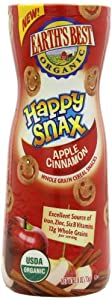 Earth's Best Organic Happy Snax Crackers, Apple Cinnamon, 2.6 Ounce