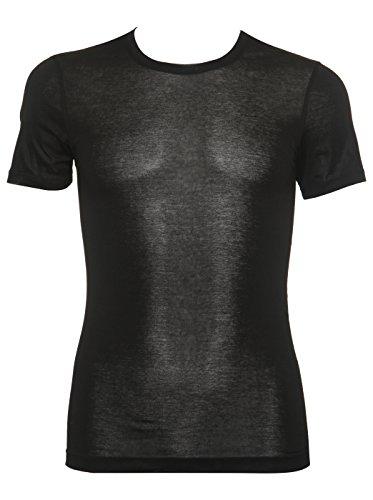 Aimer Men'S Comfortable Light And Rustles Touch Round Neck Short Sleeve T-Shirt Xl Black