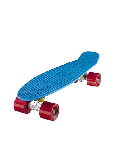 Ridge Skateboards Monopatín Original 22″ Mini Cruiser Azul / Rojo