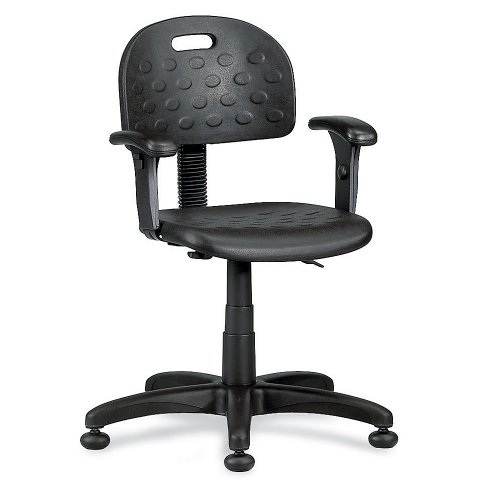 "Ergocraft Multi-Adjustment Task Chair - 16-21"" Seat Height - Carpet Casters - Black"