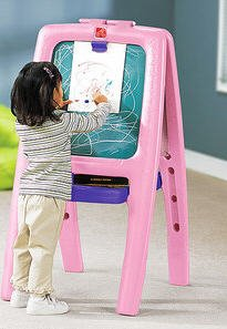 Children Art Easel Step2 Pink Easel with 77 Pc. Kit