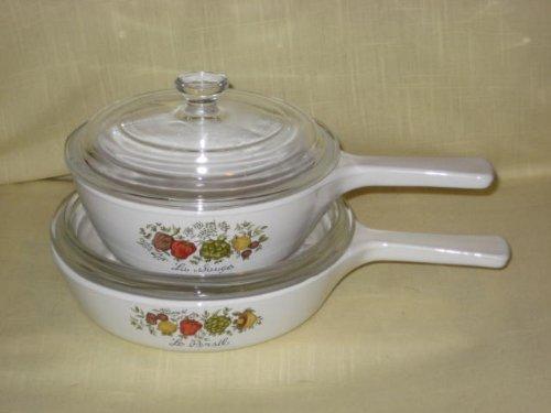 Vintage 4 Piece Corning Ware
