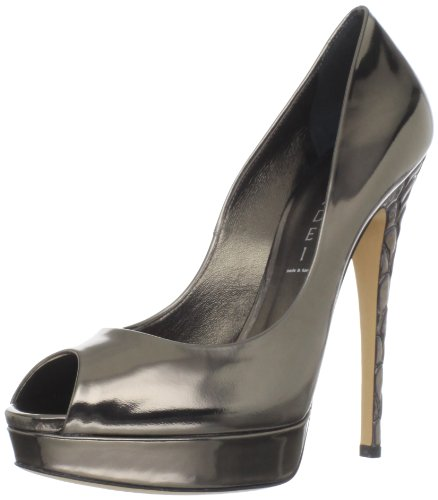 Casadei Women's 1051 Peep-Toe Pump