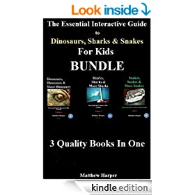 The Essential Interactive Guide To Dinosaurs, Sharks & Snakes for Kids Bundle