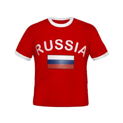 BRUBAKER Russland Fan T-Shirt Rot Gr. M