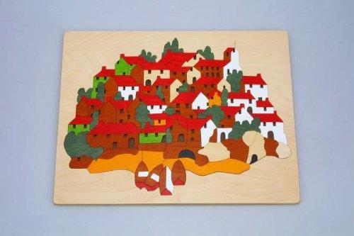 育児 知育 木のぬくもりがやさしいパズル。贈り物にも。 オス スメ ジョージラック パズル GL91・昼の街