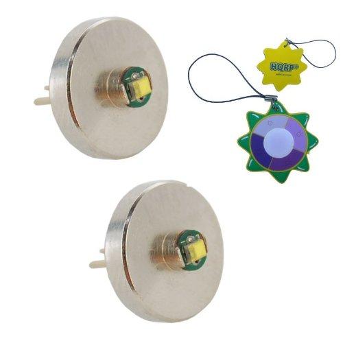 Hqrp Set: 2Pcs Hight Power 3W Extra Bright 90 Lumens Bi-Pin Led Module / Bulbs For Maglite Krypton And Xenon 2Aa Flashlight Bulb Replacement Plus Hqrp Uv Meter