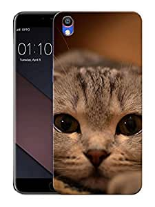 """Staring Cat EyesPrinted Designer Mobile Back Cover For """"Oppo F1 PLUS"""" (3D, Matte, Premium Quality Snap On Case)"""