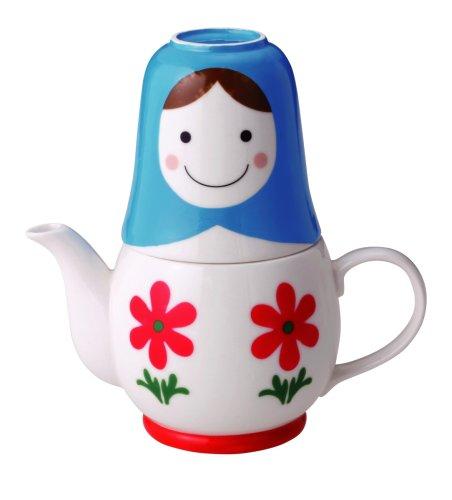 マトリョーシカ  ティーフォーツー (茶濃し付きポットとカップのセット) SAN1637