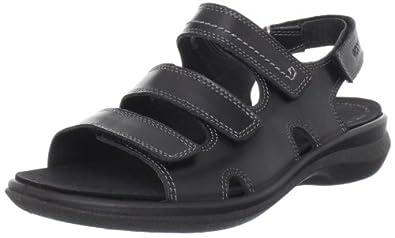 (暴降)爱步 ECCO 里外真皮舒适休闲凉鞋 Women's Breeze 3 Ankle-Strap 两色 $84.97