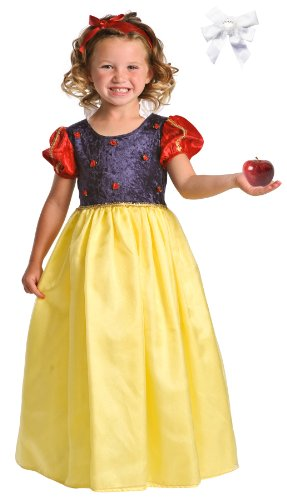 Little Adventures 12054 Deluxe Snow White Princess Costume Age 7-9 with Hairbow