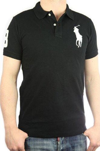 Polo by Ralph Lauren Big Pony Mens Polo-Shirt black, slim fit, men tee