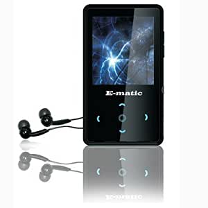 Ematic 4GB MP3 Video Player with 2.0-Inch Screen, Touch Pad, FM Radio and Recording