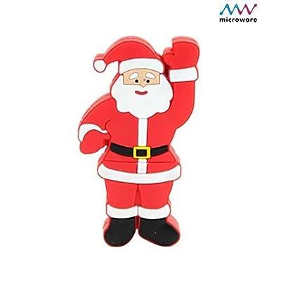 Microware 16GB Santa Claus Raising Hand ShMicroware Designer Pen Drive