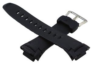 Timex Mens Q7B730 Calfskin 18mm Black Replacement Watchband