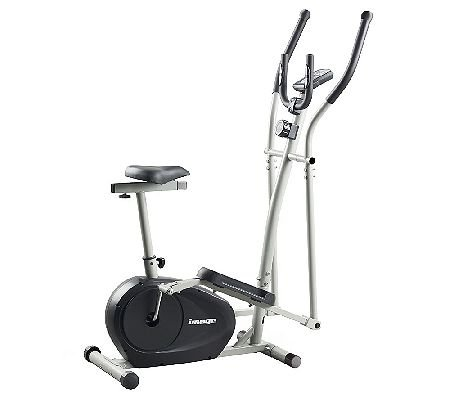 IMAGE 2-in-1 Elliptical Trainer and Upright Bike with DVD