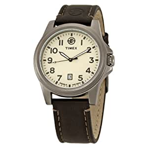 Timex® Men's EXPEDITION® Metal Field Analog Brown Leather Strap Watch #T46191