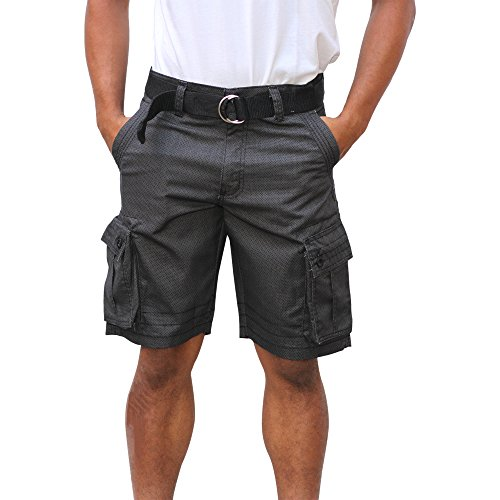 Blue Gear Mens Big And Tall Multi Pocket Size 32-50 Cargo Short (44, Black/Char) Button Down Camouflage Shorts