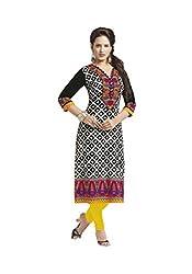 CHINTAN TEXTILES Ethnicwear Women's Dress Material BLACK_Free Size