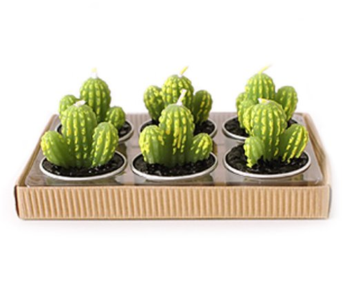 Cute Cactus Shaped Smoke And Smell Free Candle front-561867