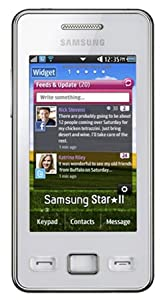 Samsung S5260 Tocco Icon White Smart Mobile Phone on O2 Pay as you go / Pre-Pay / PAYG (including £10 Airtime)