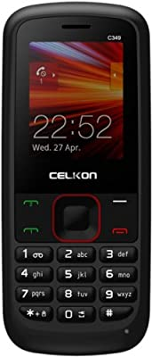 Celkon C349* (Black-Red)