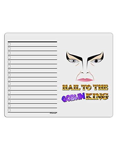 TooLoud Hail to the Goblin King To Do Shopping List Dry Erase Board (Goblin Outfit)