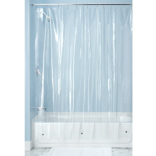 InterDesign X-Long Shower Curtain Liner, Clear (Long Shower Curtain compare prices)