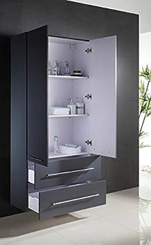 5 armoire haute xl xl anthracite aspect affin cuisine maison m64. Black Bedroom Furniture Sets. Home Design Ideas