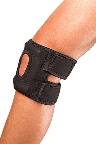 Cho-Pat Patellar Stabilizer Left leg , Black, Medium, 14 Inch-16 Inch