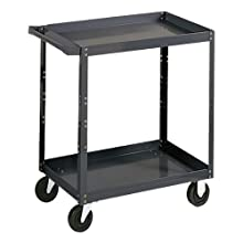 "Edsal SC1800 Industrial Gray Extra Heavy Duty Industrial Service Cart, 16 Gauge Steel, 1000lbs Capacity, 30"" Width x 36"" Height x 18"" Depth, 3 Shelves"