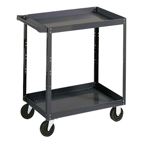 Edsal SC1800 Industrial Gray Extra Heavy Duty Industrial Service Cart, 2 Shelves, 16 Gauge Steel, 1000lbs Capacity, 30